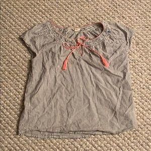 Lucky brand top woven fabric